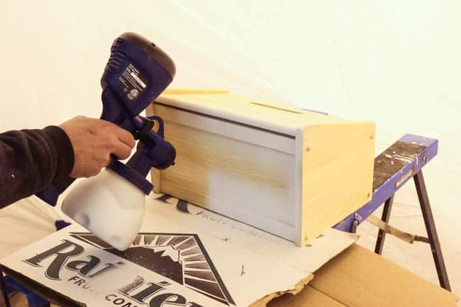 Test your sprayer on cardboard first