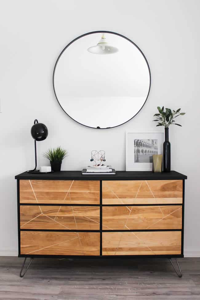 This gorgeous modern dresser looks as good as new - you'd never be able to tell it was thrifted!