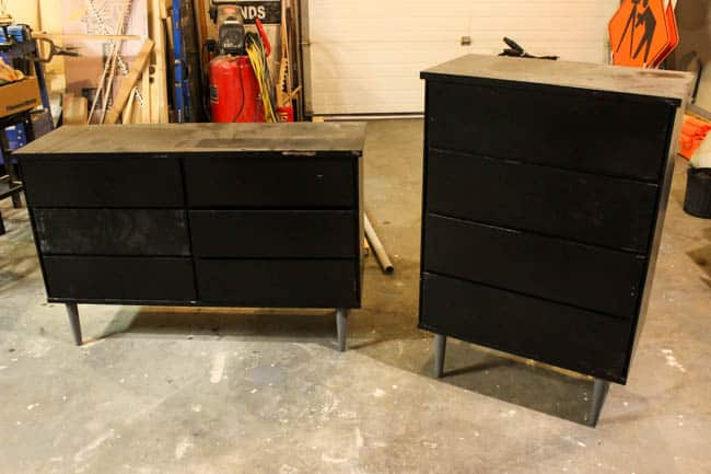 We thrifted these dressers for FREE but they badly needed a DIY makeover