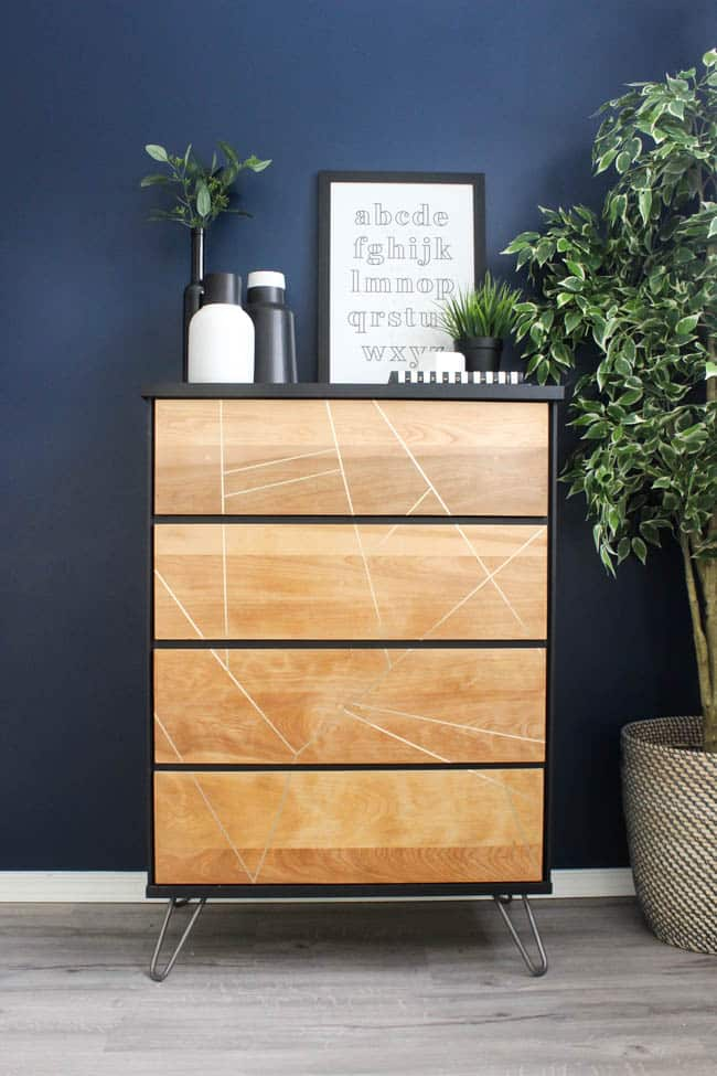 This thrifted dresser makeover came together perfectly to make this modern, stylish new dresser