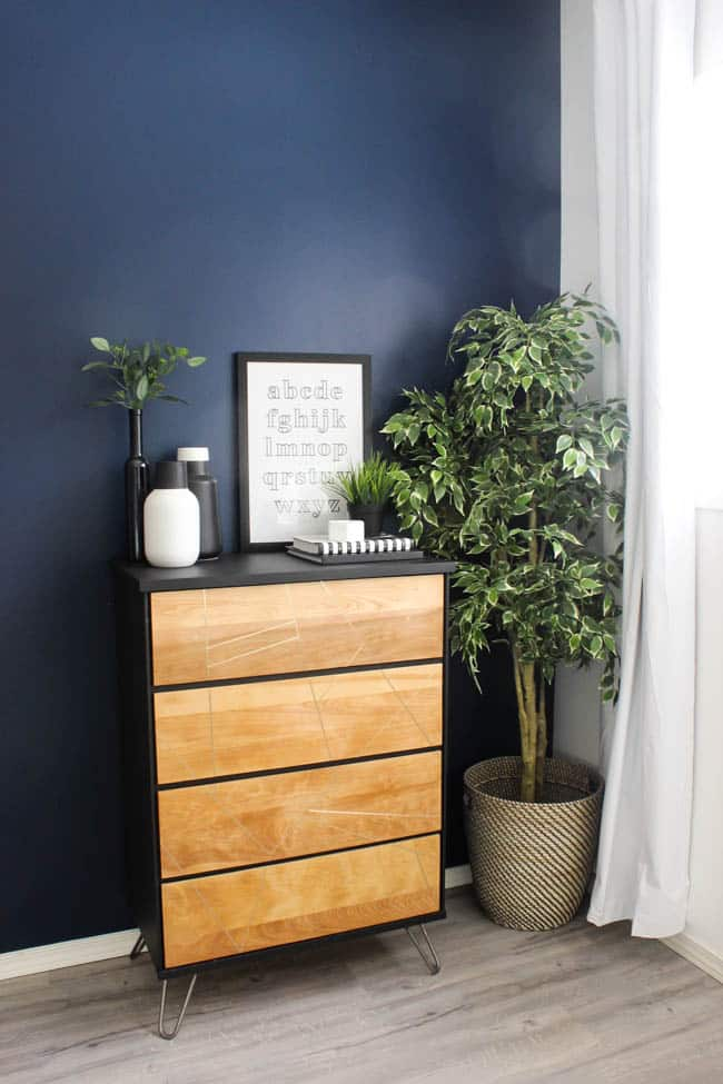I love the modern look of this dresser - and it was such an easy DIY project!