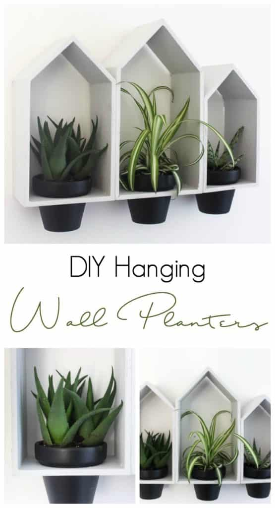 DIY Hanging Wall Planters made with Dollar Store Supplies