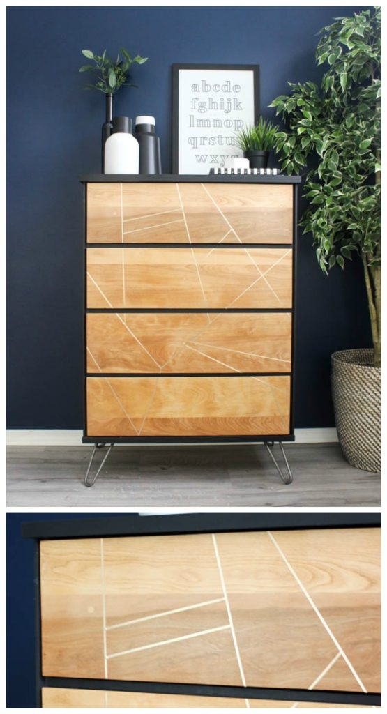 Beautiful DIY Dresser Makeover! Take thrifted dressers, and turn them into something modern and new with a sander and the best paint for furniture! LOVE the hairpin legs!
