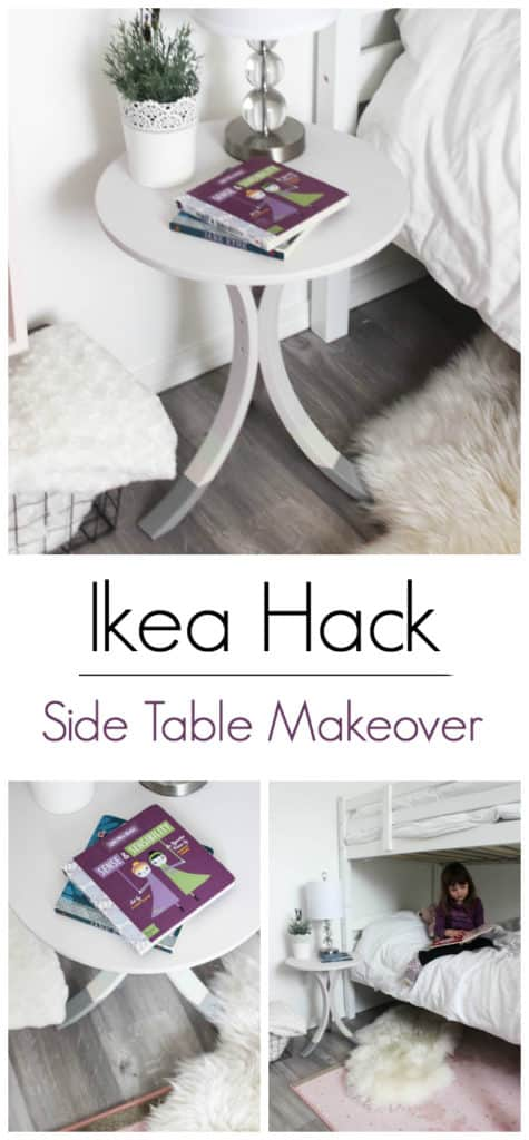 A simple Ikea Hack! Love the redesign of this IKEA side table! All you need is a few Fusion paint colours! Makes for a beautiful new bedroom night stand!