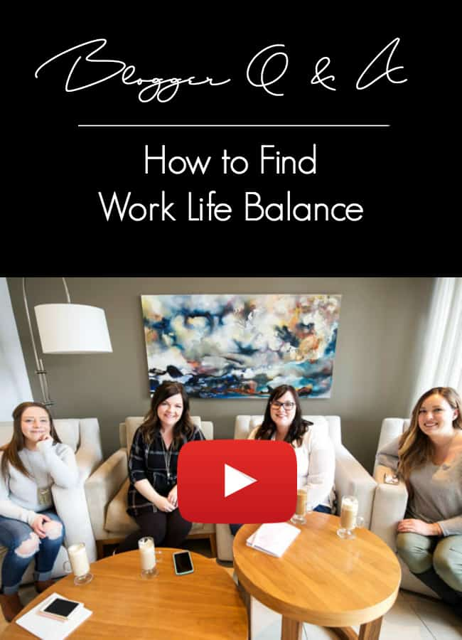 Work life balance is not an easy thing to achieve! We sat down as a group of stay-at-home blogging moms and discussed the importance of work life balance. We're sharing all of the tips and tricks we've learned!