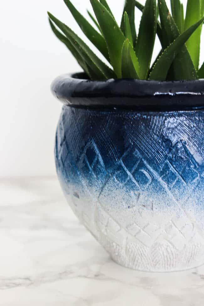 Ombre ceramic pots