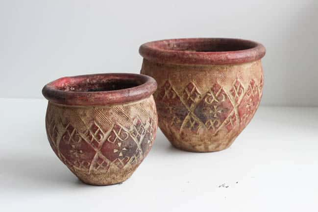 Begin with these ceramic pots
