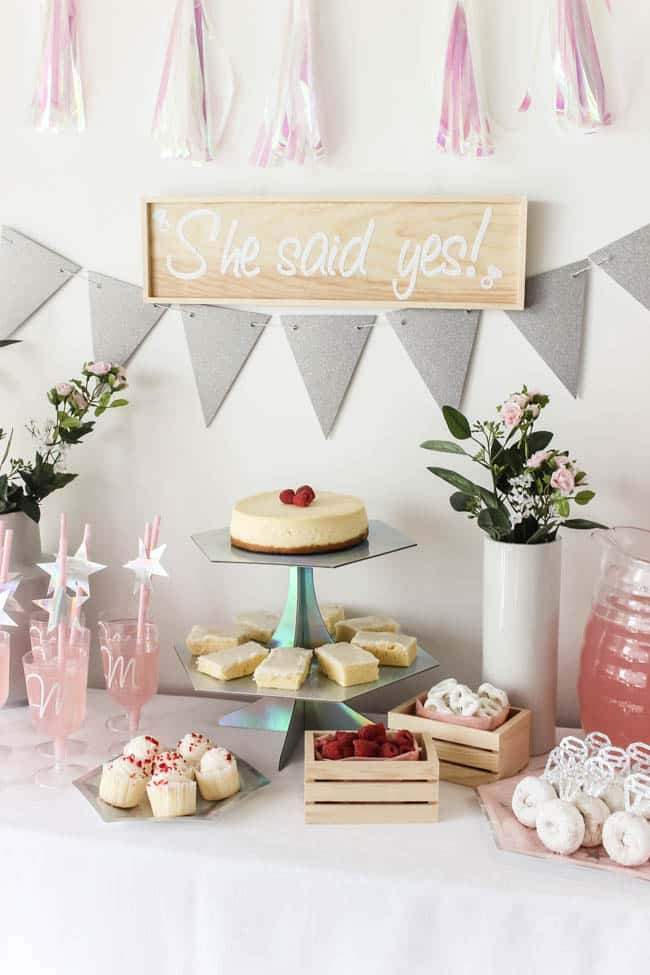 b96a40fb445 Beautiful Bridal Shower Decorations for the Modern Bride! Decorate with the  Iridescent Martha Stewart Celebration