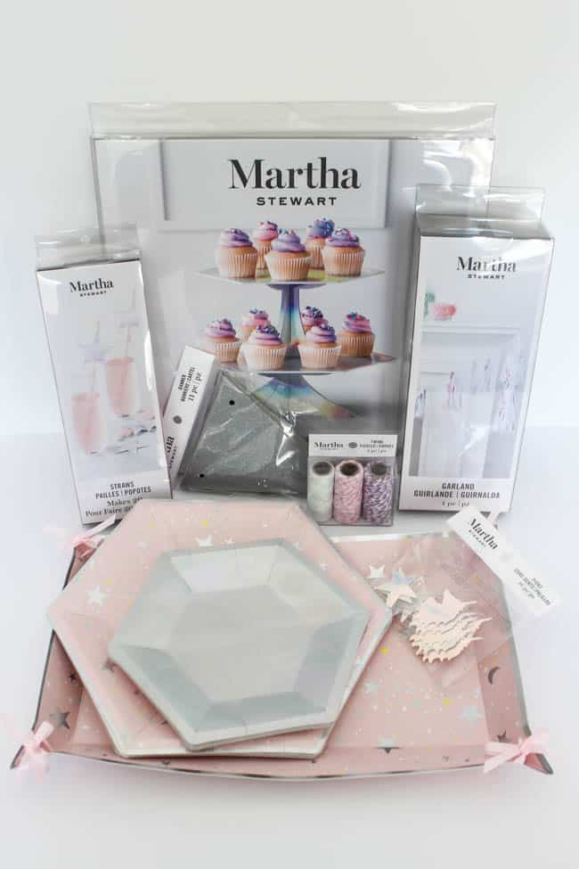 Beautiful Bridal Shower Decorations for the Modern Bride! Decorate with the Iridescent Martha Stewart Celebration Line, and personalize your party with the Cricut Explore 2! You're bride will be thrilled with the subtle glitter and glam in these pink and silver decorations!