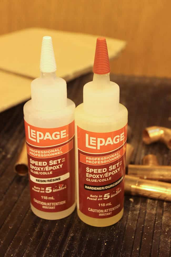This epoxy glue is the fastest drying and best glue to put together these diy candle holders