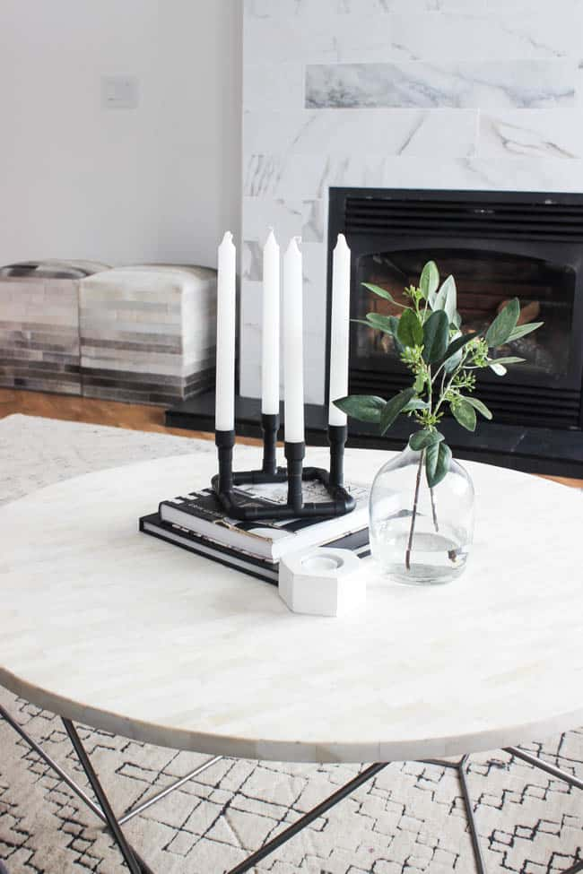 Some spray paint and candle sticks make these candle holders look like stylish modern decor