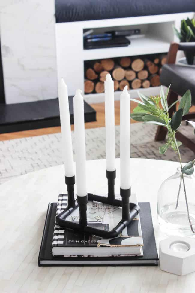 make these modern candle holders with just a few easy steps