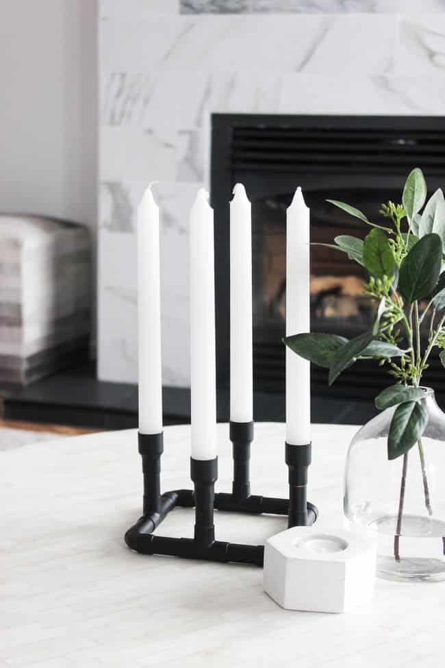 These DIY candle holders add a unique modern touch to your home decor