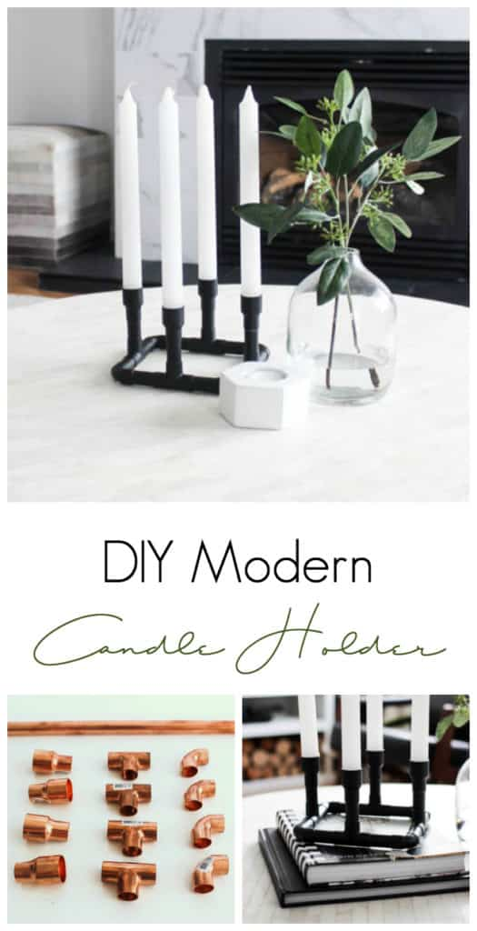 Simple DIY Candles Holders for Modern Home Decor
