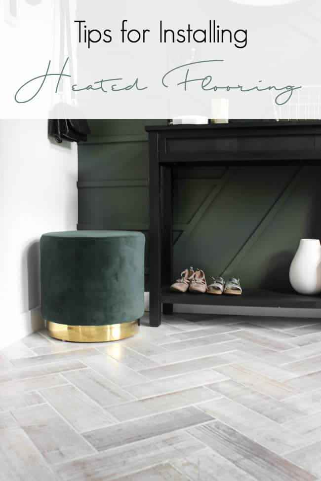 Ever thought about installing heated floors? Here are some great ideas, tips and tricks for installing radiant heated flooring in your home. You won't regret putting heated flooring in your bathroom or entryway!