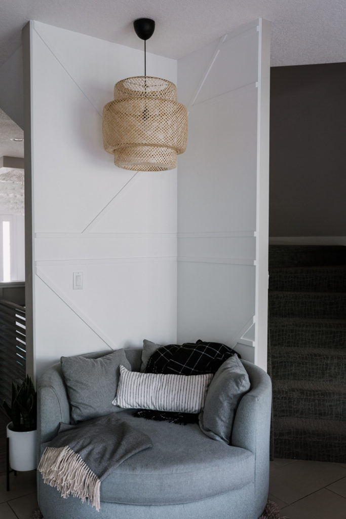 DIY Moulding Accent Wall in the Corner