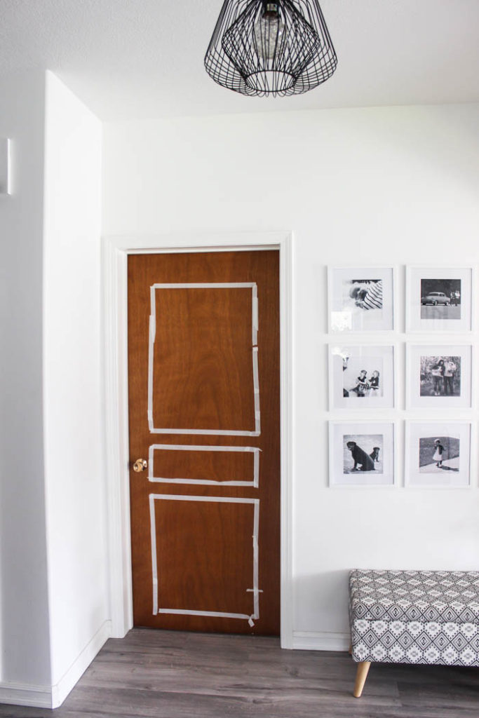 Transform Outdated Doors On A Budget! Some Trim, Paint, And
