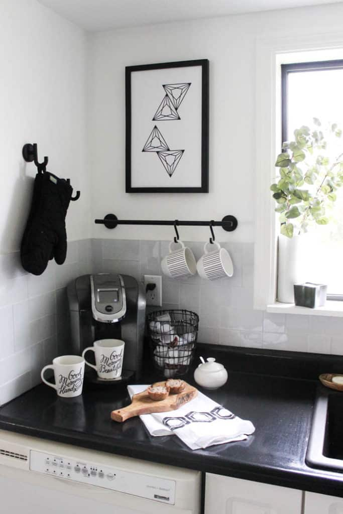 My DIY stamped tea towels look great with the rest of my kitchen decor
