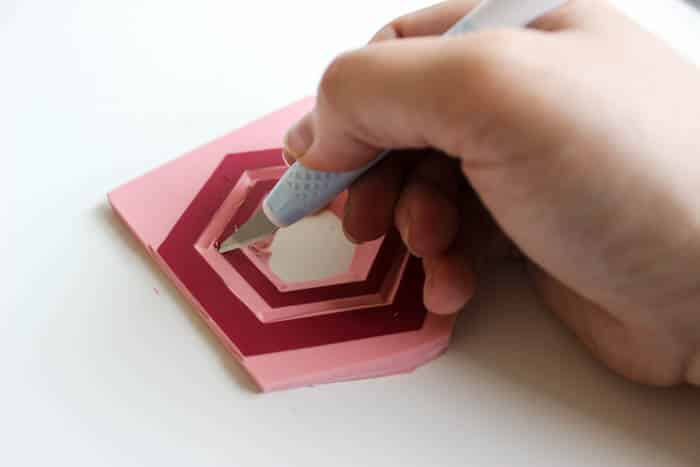 Carve out the design to make your stamp