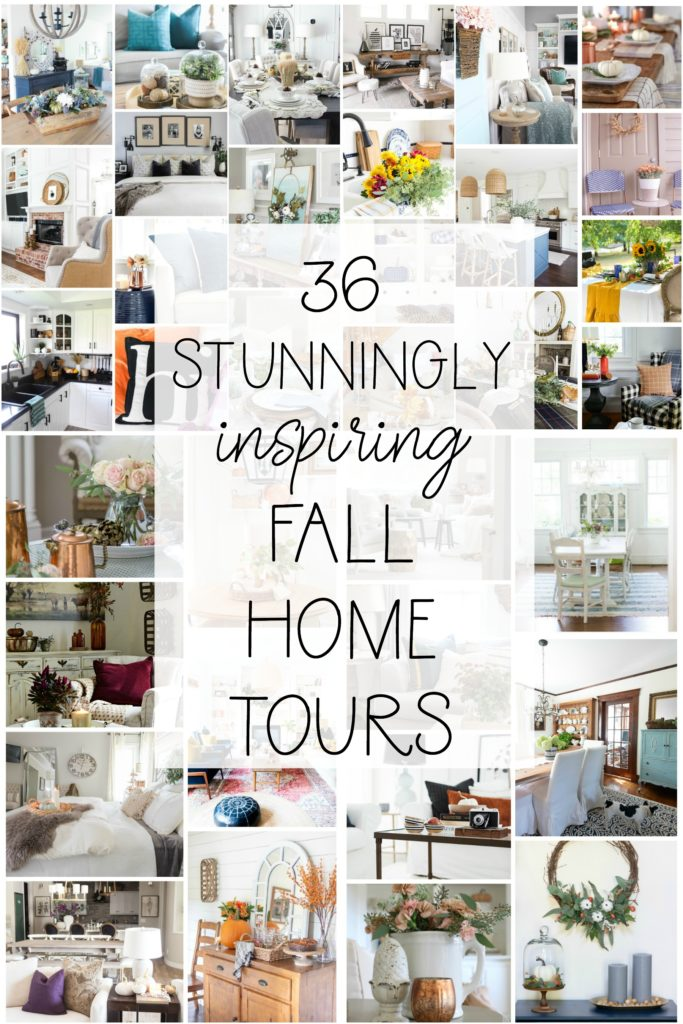 Modern Fall Home Tour! Beautiful natural ways to add fall decor into your kitchen and dining rooms! Pops of yellow and orange really make this home feel cozy for autumn!