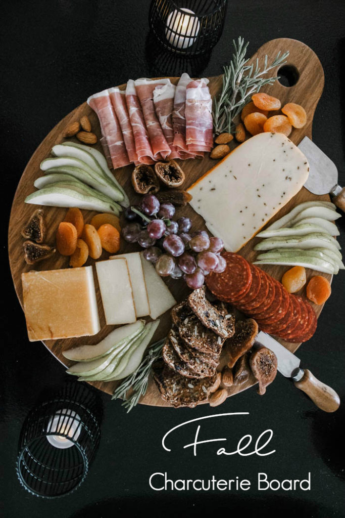 This Fall-themed charcuterie board is perfect for a Thanksgiving get-together