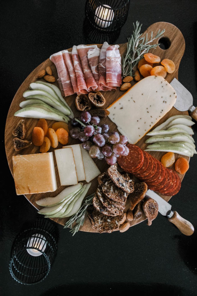 The sweet and savory variety on this fall charcuterie board makes it the perfect seasonal party platter