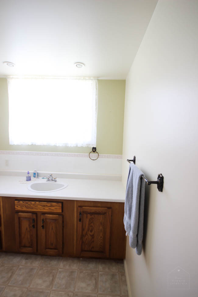 Exploring new bathroom layout options for a rectangular outdated bathroom. Things to consider before starting a bathroom remodel!