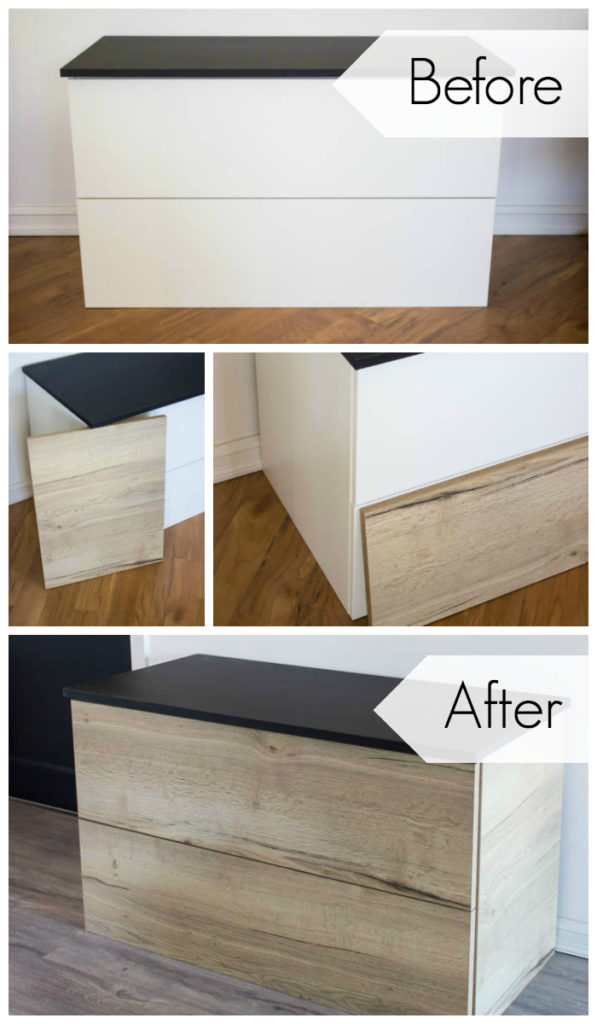 Get the look of gorgeous custom bathroom cabinets without the price tag! My Kitch Canada is helping you transform IKEA cabinets into beautiful custom pieces, without the expensive price tag! Find out how, and read all of the renovation updates! #bathroom #vanity #modernbathroom #modernfurniture #IKEAHack