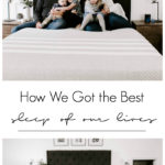 Our most comfortable mattress yet! We can't believe how well we slept after just one night on this new Lessa mattress! If you're looking for a mattress in a box, check out this Lessa mattress review first! #sleep #bedroom #modernbedroom