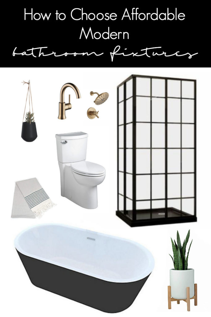 Looking for Modern Bathroom Fixtures? At affordable prices? Here are a few great tips for knowing how to choose affordable pieces that will make a big impact. Love the contemporary design of these budget-friendly pieces! #modernbathroom #fixtures #bathroom