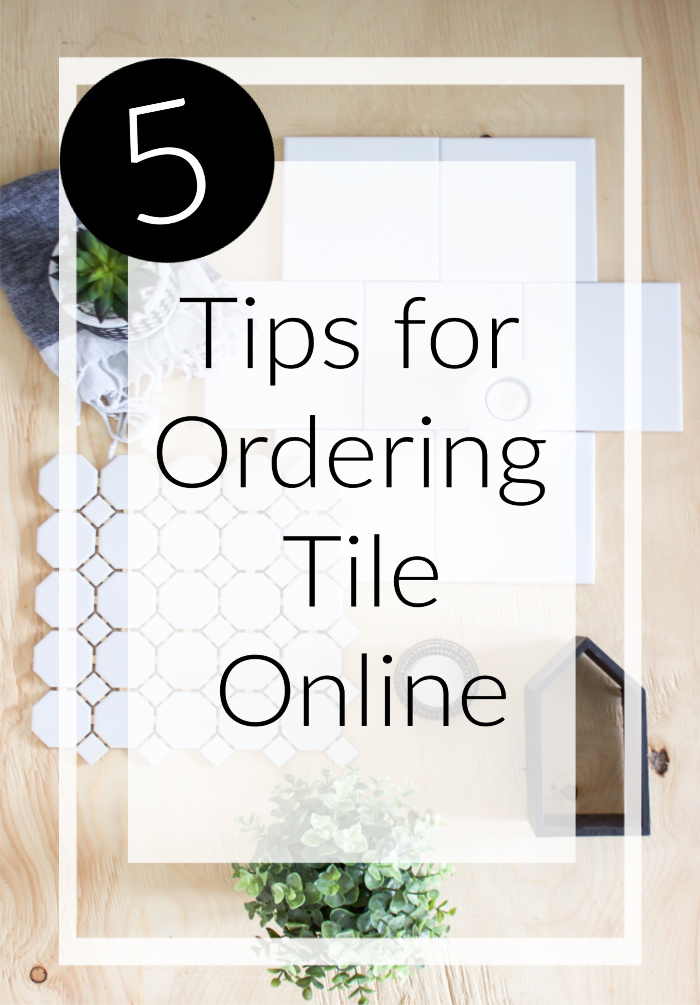 If you're thinking about ordering tile online, think about these 5 quick tips first! Love the modern tiles choices in this amazing bathroom design. Great tips for completing your own bathroom renovations! #bathroomdesign #tile #moderntile #modernbathroom
