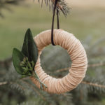 More Mini Wreath Ornaments [with leather!]