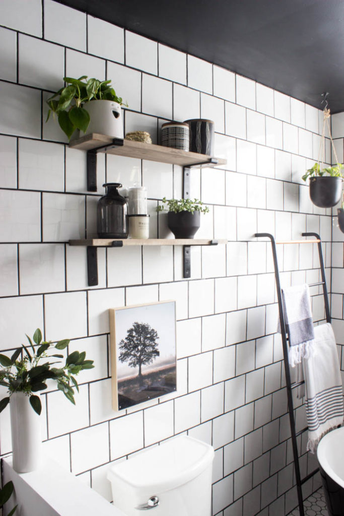 Diy Bathroom Shelves How To Drill Into Tile Love Create Celebrate