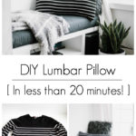 Make your own lumbar pillow in minutes using an old sweater from your closet for the thrift store! This chic DIY pillow is the perfect upcycle to decorate your home! #upcycle #DIY #moderndecor #thrifting