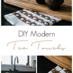 Easy Modern Valentine's Day Decor! Add a little love to your home with this easy DIY tea towel using the Cricut and iron-on vinyl or HTV. Love this subtle design and the modern take on Valentine's Day decor. #ValentinesDay #moderndecor #modernvalentinesday #diy #irononvinyl #cricutmade #cricutmarthastewart #cricut
