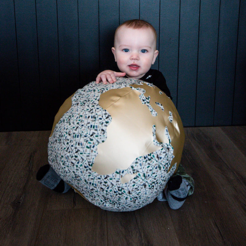 Fabric globe for earth day