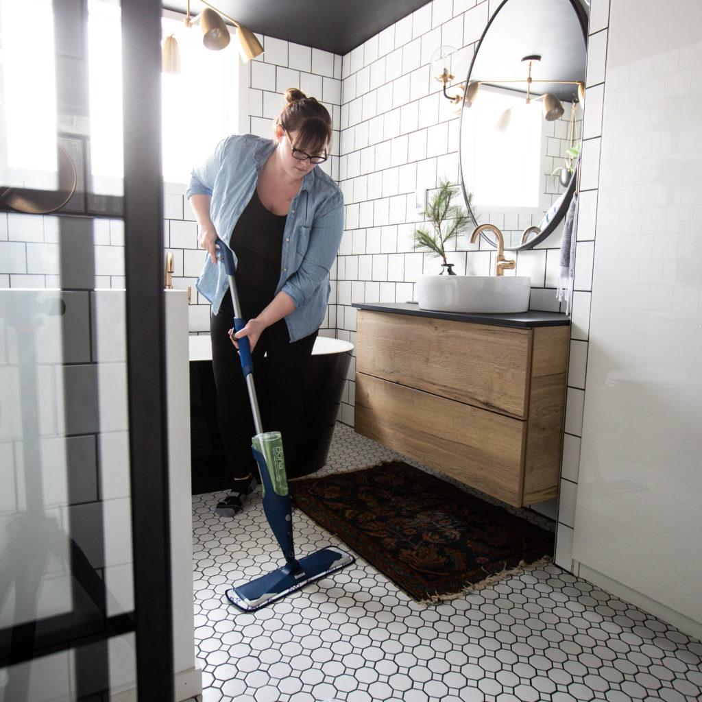 clean tile floor treatment for bathroom floor | The Best Tile Floor Cleaner We've Used [for our white ...