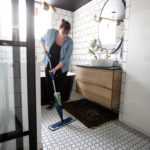 The Best Tile Floor Cleaner We've Used [for our white bathroom tiles!]