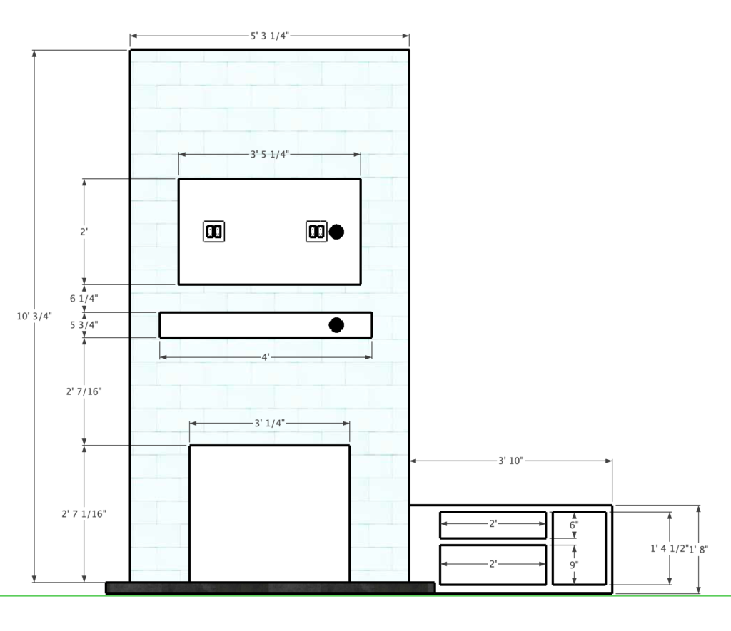 build plans for fireplace surround and bench seat