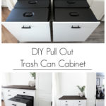 DIY Pull Out Trash Can Cabinet