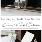 """photos of the cricut knife blade and balsa wood projects with text overlay reading """"everything you need to know about the Cricut knife blade"""""""