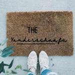 modern custom doormat