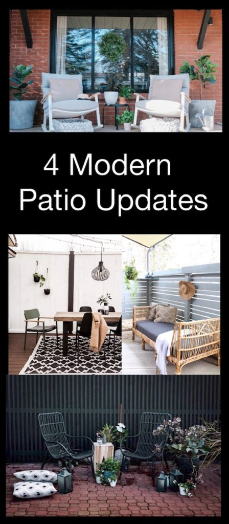 Collage of modern patios