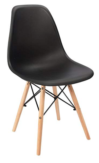 modern black plastic dining chairs