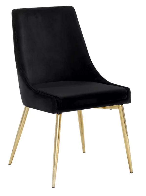 modern black velvet dining chairs