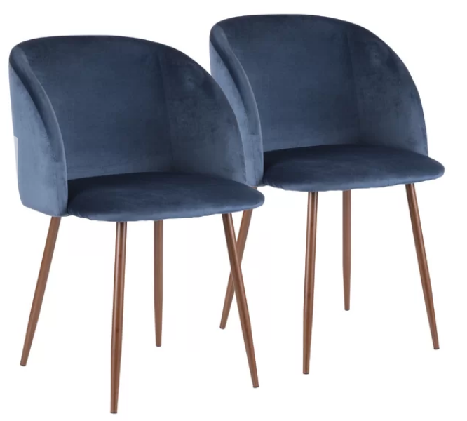modern blue velvet dining chairs