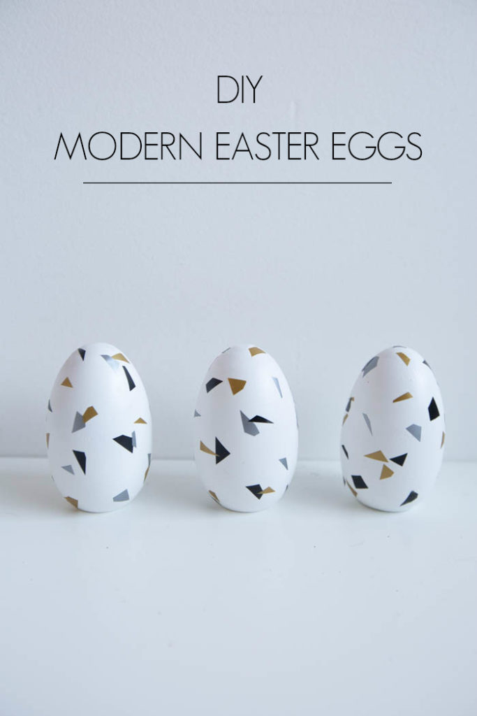 Minimalist, nordic Easter Eggs with text overlay reading Modern Easter Eggs