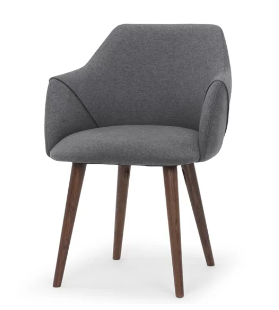 grey fabric dining chair or desk chair