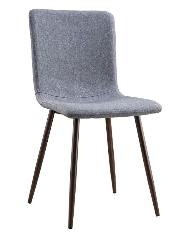modern grey fabric dining chair