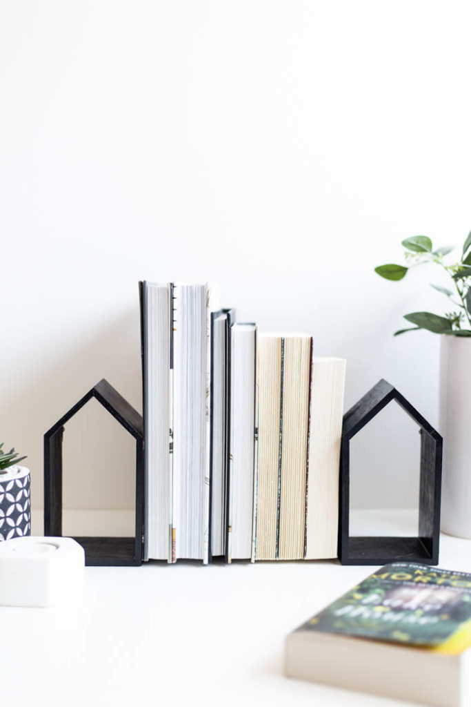 Easy DIY Bookend Houses
